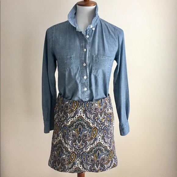J. Crew Dresses & Skirts - JCrew skirt | Paisley | Sz 0